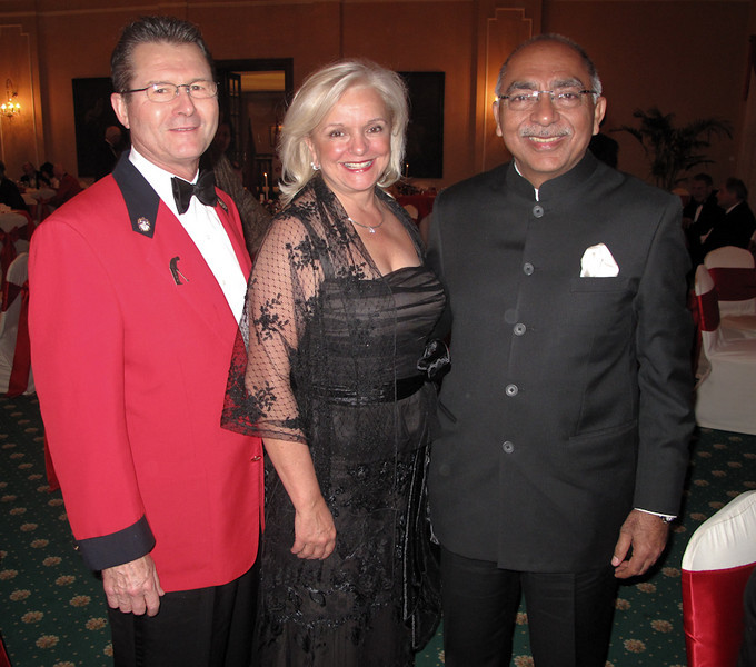 Glenn and Sylvia Rourke Royal Montreal with Ashit Luthra Past Captain Royal Calcutta