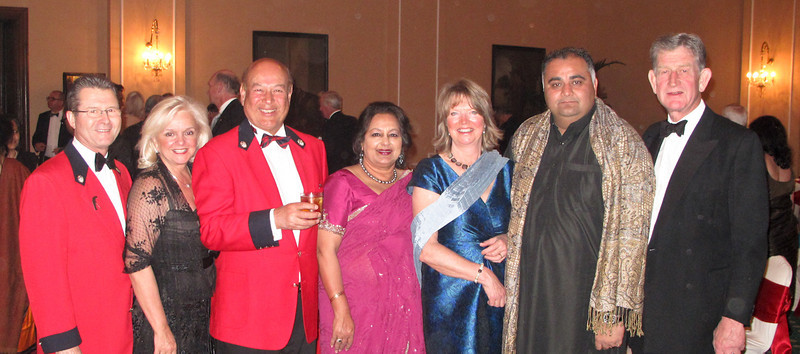 The Rourkes and Mehras from Royal Montreal Golf Club with other guests at the Black Tie Gala - Royals Trophy, Kolkata January 2010