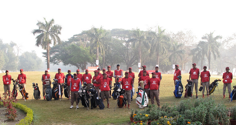 Royal Calcutta Caddies getting ready for the competition