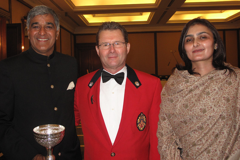 Glenn Rourke with 2010 Royals Trophy co winner Lakshman Singh and Mrs. Singh