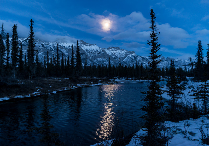 Moonlit Reflections in Jasper