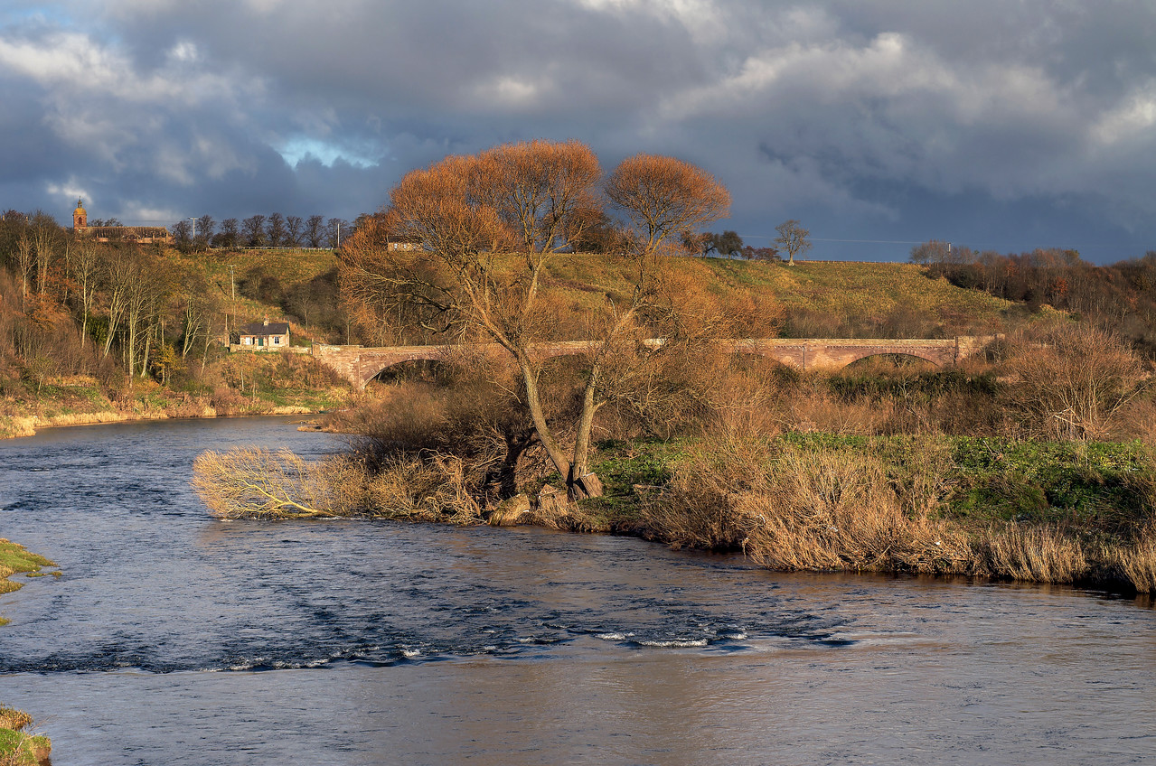 RIVER TWEED IN GLOWING LIGHT