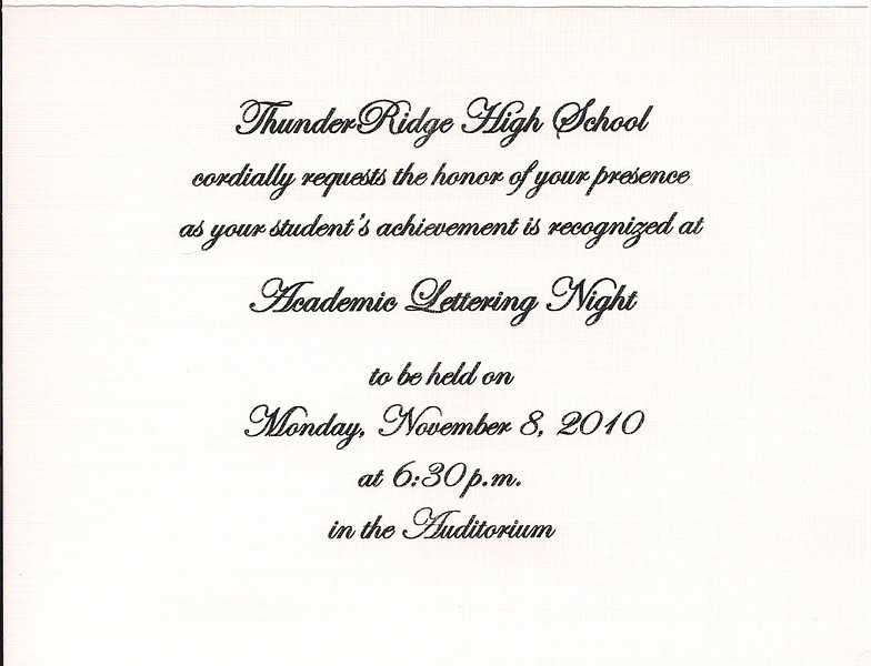 TR Academic Lettering Invitation 110810