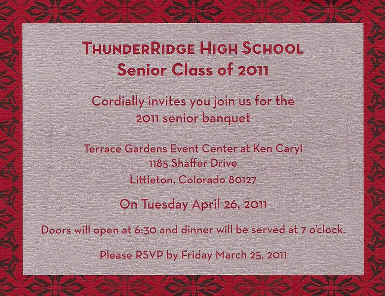 2011 TRHS Senior Banquet 022611