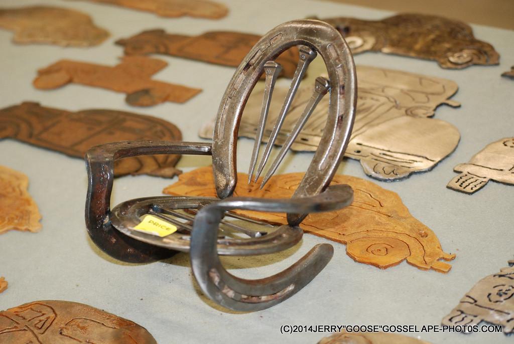 HORSE SHOE ART BY BILL SOUX.. , GUFFERY, COLORADO