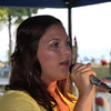 Elizabeth Matijasic sings the National Anthem.