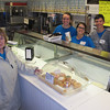 Mayor Eileen Bulan needs some more coffee..Behind counter...Dana smith, Lindsay Roberts, Matt Walker and Brooke Adkins.
