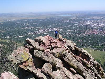 Me on the ridge.