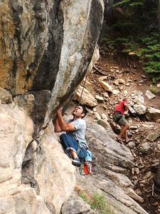 Baba climbs; Seann falls.