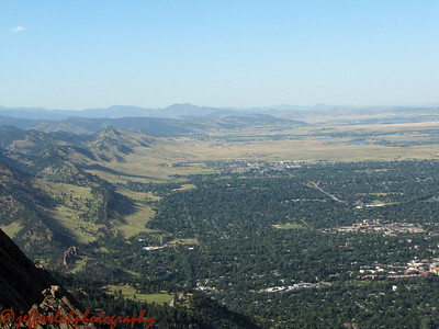 The view of North Boulder from the top.  Kim's house is down there somewhere.