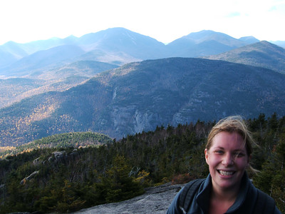 Joanne with the southern High Peaks in the background.