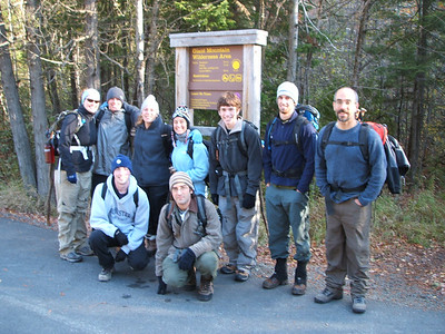 Group shot at the trailhead to Giant Mountain.