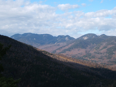 The Great Range viewed from along the Ridge Trail.