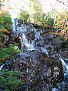 A waterfall along the trail to the MacIntyre Range.