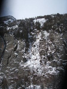 Cliffs on the side of Avalanche Mountain.