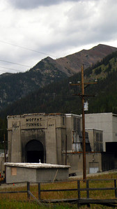 The east portal of the Moffat train tunnel, where the trail starts.