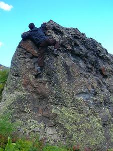 Step 1: Climb rock Step 2: ???? Step 3: Profit!