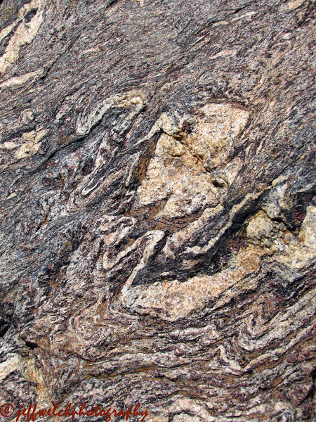 Cool patterns in the rock.