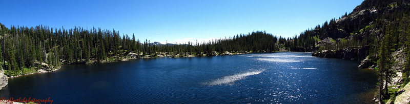 After my hike, I hucked myself off a 20 footer into Gourd Lake, then found a nice perch above the lake to sit and read.  Here's the view from my reading spot.  Not bad, eh?
