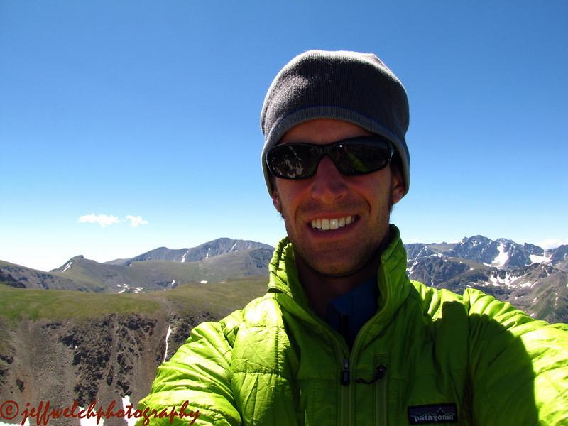 Self portrait on Cooper's summit.