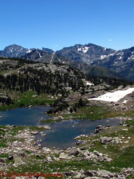 The unnamed lake below Marten Peak.