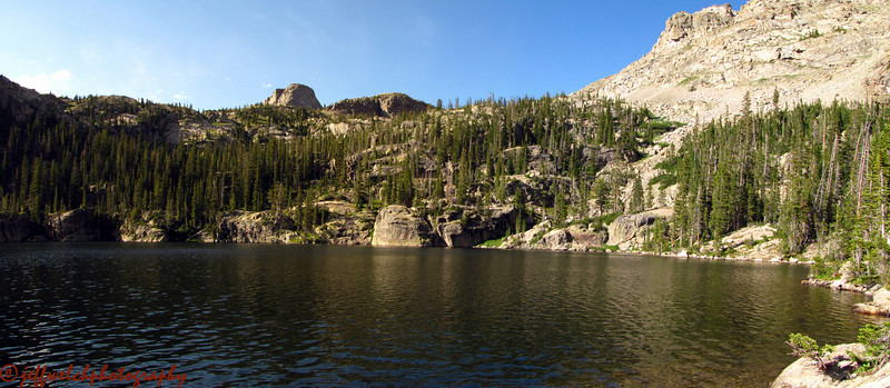 A more panoramic view of the lake.