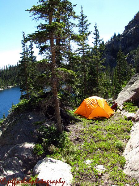 My camp above Gourd Lake.