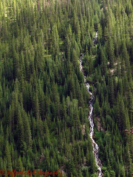 The steep creek cascading down from Thunderbolt Peak's northeastern cirque.