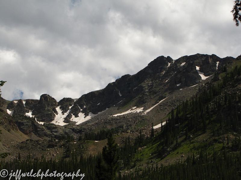 The actual summit of Thunderbolt Peak.