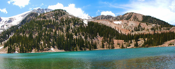 The first Thomas Lake, nestled right at the base of Sopris.  It had a surprisingly alpine feel for its relatively low elevation (~10,500').