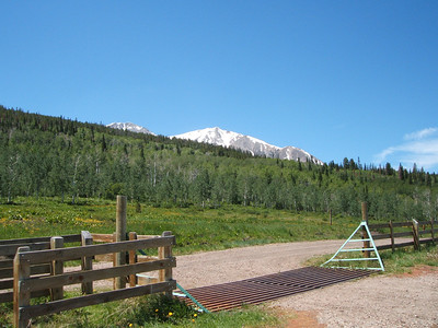 Mt. Sopris was just visible from the trailhead.