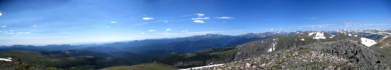 A panorama from the Grays/Torreys area to the SW to St. Mary's area in the NE.