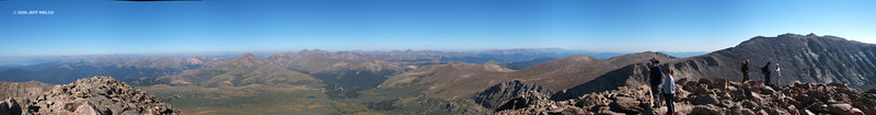 From the summit.  Starting at left, from south to west to northeast.  The photos were screwy and didn't stitch together into a full 360 panorama well.