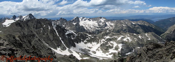 A panorama of the Lone Eagle area.