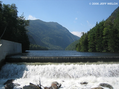 The dam at Lower Ausable Lake.  I have no idea why the reservoir was originally created.