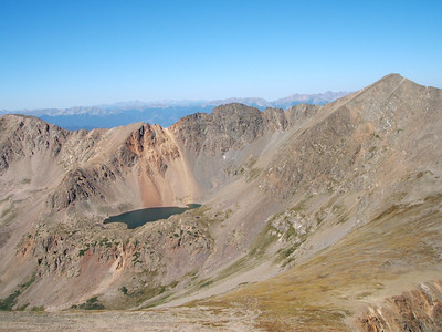 Chihuahua Lake and Grizzly Peak (13,427') from the shoulder of Torreys.