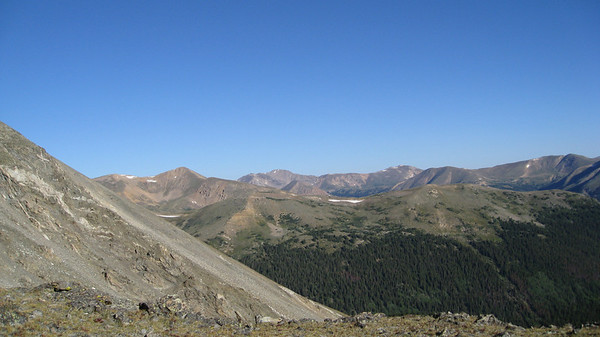 Looking north from the Torreys-Kelso saddle.