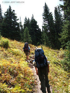 Working our way up towards the Highland Mary Lakes.