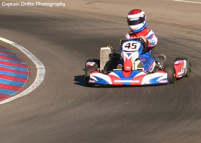 Me practicing in a 125cc Rotax kart at The Track. Photo by Captain Drifto.