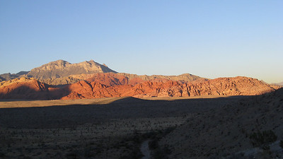 Calico Hills catching last light.