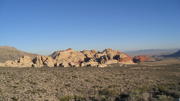 Calico Hills from the highest point on the scenic loop road.
