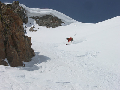 Lacy drops into the narrower line (it's wide at the top, but chokes down hard just below this photo). Photo: Dave Bahr