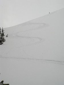 Photographer gets first tracks.