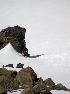 I skied near a big rock because there were no trees to hit, and I needed to risk a concussion somehow.