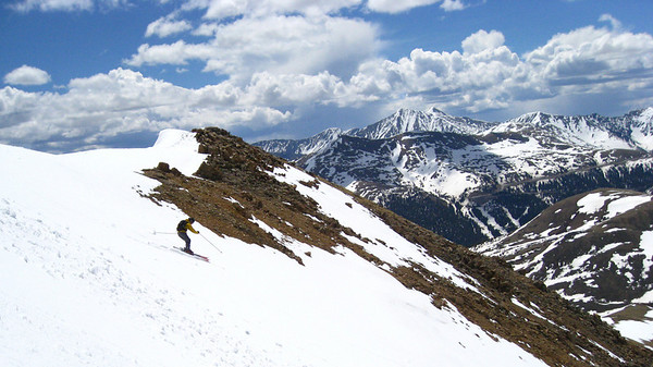 We did not summit.  Our descent started at 13,000'.  RADam makes a RAD turn at the top of the SW face.