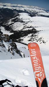 Adam's ski provides a Dynastar promo.