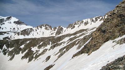 Democrat's rugged SW ridge.