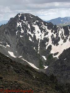 The remote north face of North Arapahoe.  Lacy skied this earlier in the year.  I am jealous.