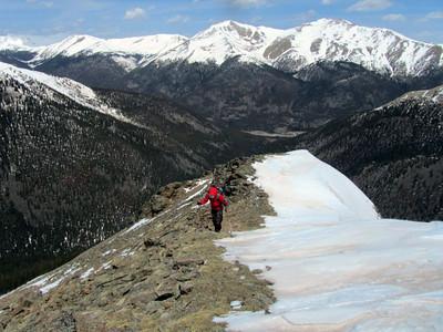 Me climbing the ridge.