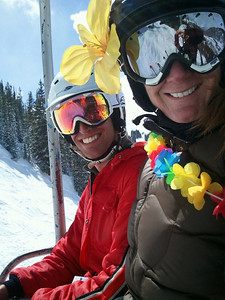 Tracy and I on Chair 1.